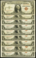 Small Size:World War II Emergency Notes, Fr. 2300 $1 1935A Hawaii Silver Certificates. Seventeen Examples. Very Fine or Better.. ... (Total: 17 notes)