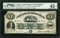 Canadian Currency: , St. Johns, NF- Union Bank of Newfoundland £1 1880 Ch. # 750-14-06.....