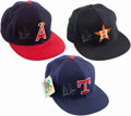 Autographs:Others, Trio of Nolan Ryan Signed Hats - Rangers, Astros, and Angels. ...