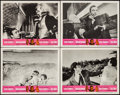 "Movie Posters:James Bond, Goldfinger/Dr. No Combo (United Artists, R-1966). Lobby Cards (4)(11"" X 14""). James Bond.. ... (Total: 4 Items)"