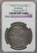 Mexico, Mexico: Charles IV 8 Reales 1794 Mo-FM XF Details (SurfaceHairlines) NGC,...