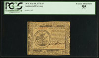 Continental Currency May 10, 1775 $5 PCGS Choice About New 55