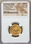 Ancients:Byzantine, Ancients: Justin II (565-578). AV solidus (4.48 gm). NGC MS4/5 - 4/5, clipped....