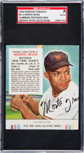 Baseball Cards:Autographs, Signed 1954 Red Man Monte Irvin #5 SGC Authentic - From The Monte Irvin Collection. ...
