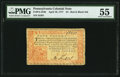 Colonial Notes:Pennsylvania, Pennsylvania April 10, 1777 £4 PMG About Uncirculated 55.. ...