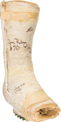 Football Collectibles:Others, 1972 Bob Griese's Personal Leg Cast (Signed) - From Super Bowl VII season. ...