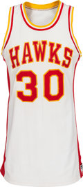 "Basketball Collectibles:Uniforms, 1980-81 Wayne ""Tree"" Rollins Game Worn Atlanta Hawks Jersey. ..."