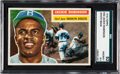 Baseball Cards:Singles (1950-1959), 1956 Topps Jackie Robinson (White Back) #30 SGC 92 NM-MT+ 8.5 - PopTwo, None Higher. ...