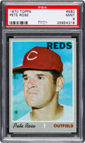 Baseball Cards:Singles (1970-Now), 1970 Topps Pete Rose #580 PSA Mint 9....