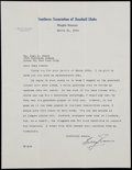 Autographs:Letters, 1944 Bill Evans Signed Letter - Southern Association of BaseballClubs Letterhead. ...