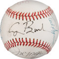 Baseball Collectibles:Balls, 1989 President George H.W. Bush & Others Signed Baseball from The Gary Carter Collection....