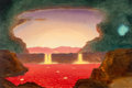 Pulp, Pulp-like, Digests, and Paperback Art, Chesley Bonestell (American, 1888-1986). End of the World, TheSun Becomes a Supernova, 1978. Oil on board. 20 x 30 in....