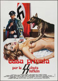 "Movie Posters:Exploitation, Private House of the SS (La Japad Film, 1977). Italian 2 - Fogli(39.25"" X 55""). Exploitation.. ..."