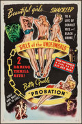 """Movie Posters:Exploitation, Girls of the Underworld/Probation Combo (Willis Kent Productions, R-1940s). One Sheet (27"""" X 41""""). Exploitation.. ..."""