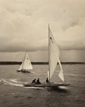 Photographs:Gelatin Silver, John R. Hogan (American, 1888-1965). Sailing in the Rain.Gelatin silver. 18-1/4 x 14-1/2 inches (46.2 x 36.8 cm). Signe...(Total: 2 Items)