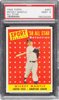 Baseball Cards:Singles (1950-1959), 1958 Topps Mickey Mantle #487 PSA Mint 9 - None Higher....