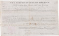 Miscellaneous Collectibles:General, 1825 President John Quincy Adams Signed Land Grant....