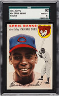 Baseball Cards:Singles (1950-1959), 1954 Topps Ernie Banks #94 SGC 92 NM/MT+ 8.5....