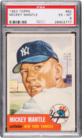 Baseball Cards:Singles (1950-1959), 1953 Topps Mickey Mantle (SP) #82 PSA EX-MT 6....