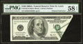 Error Notes:Foldovers, Fr. 2182-H $100 2006A Federal Reserve Note. PMG Choice About Unc 58EPQ.. ...