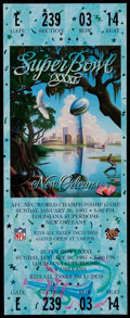 Football Collectibles:Tickets, 1997 Super Bowl XXXI Full Ticket....