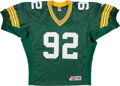 Football Collectibles:Uniforms, 1999 Reggie White Signed Green Bay Packers Jersey....