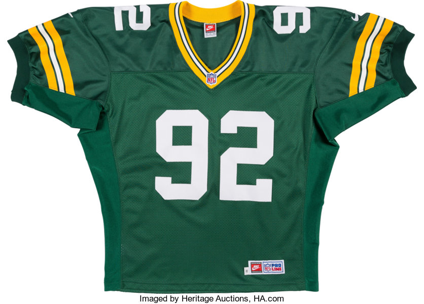 super popular 83c42 3eafb 1999 Reggie White Signed Green Bay Packers Jersey ...
