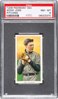 Baseball Cards:Singles (Pre-1930), 1909-11 T206 Piedmont 350 Addie Joss (Pitching) PSA NM-MT 8 - Poptwo, None Higher. ...