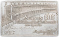 Baseball Collectibles:Others, 1915 New York Giants Silver (Aluminum) Season Pass. ...