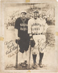 Baseball Collectibles:Photos, 1927-28 Babe Ruth & Lou Gehrig Dual-Signed BarnstormingPhotograph, PSA/DNA NM-MT+ 8.5....