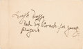 Baseball Collectibles:Others, 1952 Hugh Duffy Signed Government Postcard....