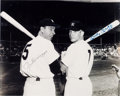 Baseball Collectibles:Photos, 1980's Joe DiMaggio & Mickey Mantle Signed OversizedPhotograph. ...