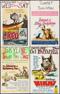"Movie Posters:Adventure, The Adventures of Huckleberry Finn & Others Lot (MGM, 1960).Window Cards (9) (14"" X 22""). Adventure.. ... (Total: 9 Items)"