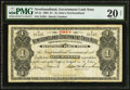Canadian Currency: , St. John's, NF- Newfoundland Government Cash Note $1 1903 Ch. #NF-5c.. ...