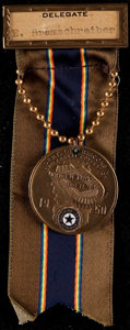 Football Collectibles:Others, 1950 Green Bay American Legion Dept. of Wisconsin Convention Medal - With Packers Old City Stadium. ...