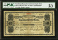 Canadian Currency, St. John's, NF- Newfoundland Government Cash Note 40¢ 1907 Ch. # NF-2g.. ...