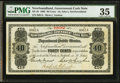 Canadian Currency: , St. John's, NF- Newfoundland Government Cash Note 40¢ 1902 Ch. #NF-2b. . ...