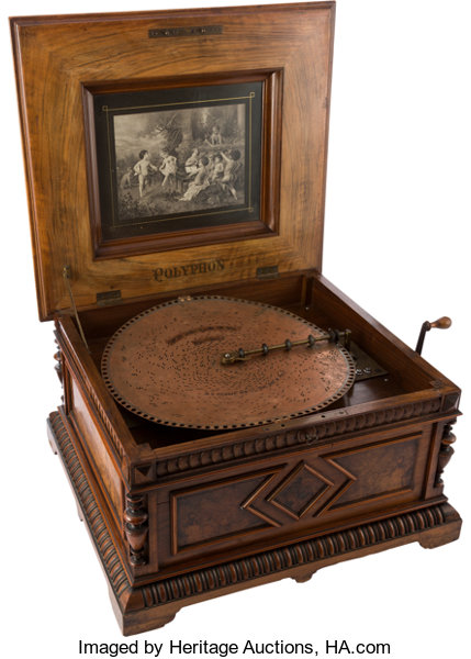Entertainment CollectiblesMusic Polyphon 15 1 2 Style 45 Disc Music Box