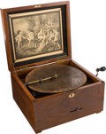 "Entertainment Collectibles:Music, Troubadour No. 44B 8 7/8"" Table-Top Disc Music Box...."