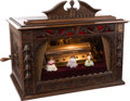 Entertainment Collectibles:Music, Railroad Station Cylinder Box with Dancing Dolls & MandarinBell Ringer....