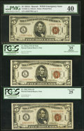 Fr. 2301 $5 1934 Mule Hawaii Federal Reserve Note. PCGS Apparent Very Fine 35; Fr. 2302 1934A Hawaii Federal Reserve Not...