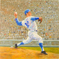 Baseball Collectibles:Others, 2000's Sandy Koufax Original Artwork by Dick Perez....