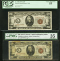 Small Size:World War II Emergency Notes, Fr. 2305 $20 1934A Hawaii Federal Reserve Notes Two Examples. . ... (Total: 2 notes)
