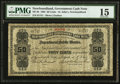 Canadian Currency: , St. John's, NF- Newfoundland Government Cash Note 50¢ 1902 Ch. # NF-3b. . ...