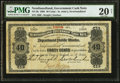 Canadian Currency: , St. John's, NF- Newfoundland Government Cash Note 40¢ 1908 Ch. #NF-2h. . ...