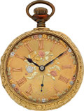 Timepieces:Pocket (post 1900), Illinois Heavy 18k Gold 16 Size Fancy Dial. ...