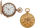 Timepieces:Pocket (post 1900), Swiss Quarter Hour Repeater & M.J. Tobias Pocket Watches. ...(Total: 2 Items)