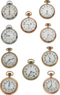 Timepieces:Pocket (post 1900), Ten American Railroad Grade Pocket Watches All Are Runners. ...(Total: 10 Items)
