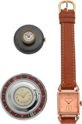 Timepieces:Other , Roulette Wheel, Button Hole & Hinged Lug Watches. ... (Total: 3 Items)