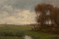 Paintings, Julian Onderdonk (American, 1882-1922). Autumn at the Farm. Oil on canvas. 16 x 24 inches (40.6 x 61.0 cm). Signed with ...